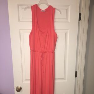 3 Dots- Coral Racerback Maxi Dress